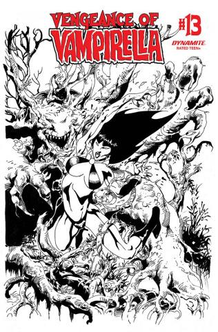Vengeance of Vampirella #13 (11 Copy Castro B&W Cover)