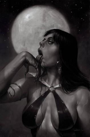 Vampirella #21 (50 Copy Parrillo Virgin B&W Cover)