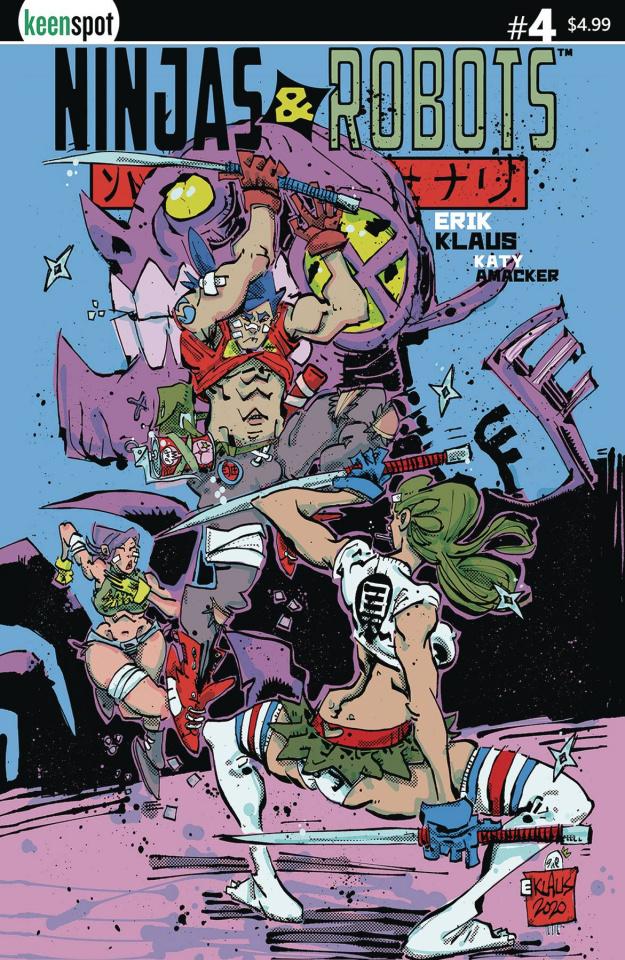 Ninjas & Robots #4 (Erik Klaus Cover)