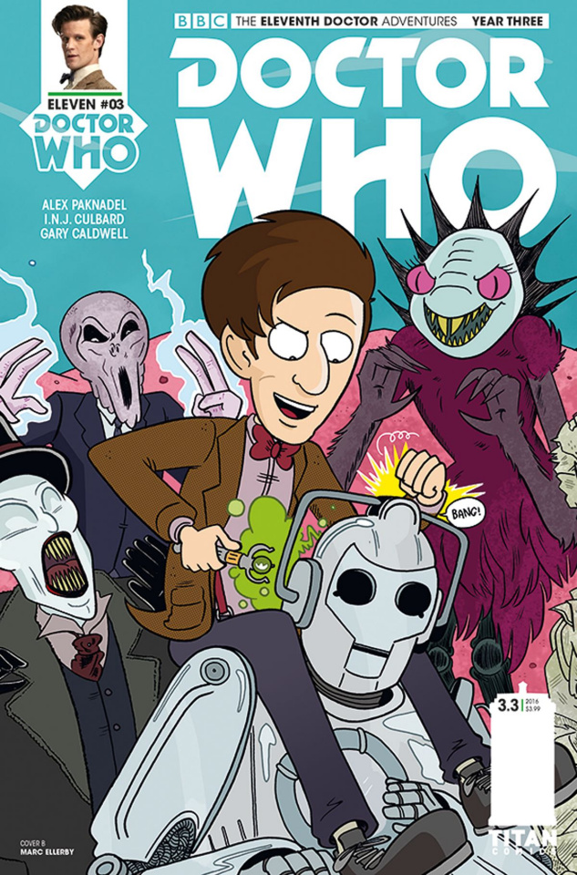 Doctor Who: New Adventures with the Eleventh Doctor, Year Three #3 (Ellerby Connecting Cover)