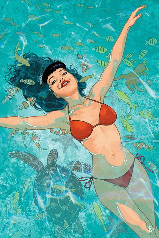 Bettie Page #4 (Kano Virgin Cover)