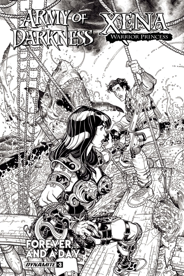 Army of Darkness / Xena: Forever... And a Day #3 (10 Copy B&W Cover)