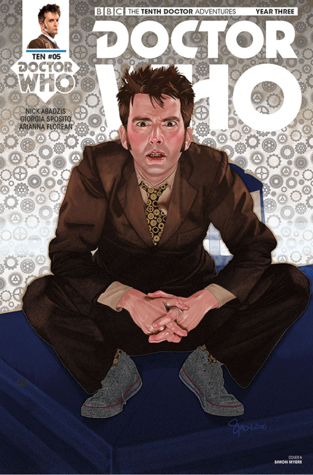 Doctor Who: New Adventures with the Tenth Doctor, Year Three #5 (Myers Cover)