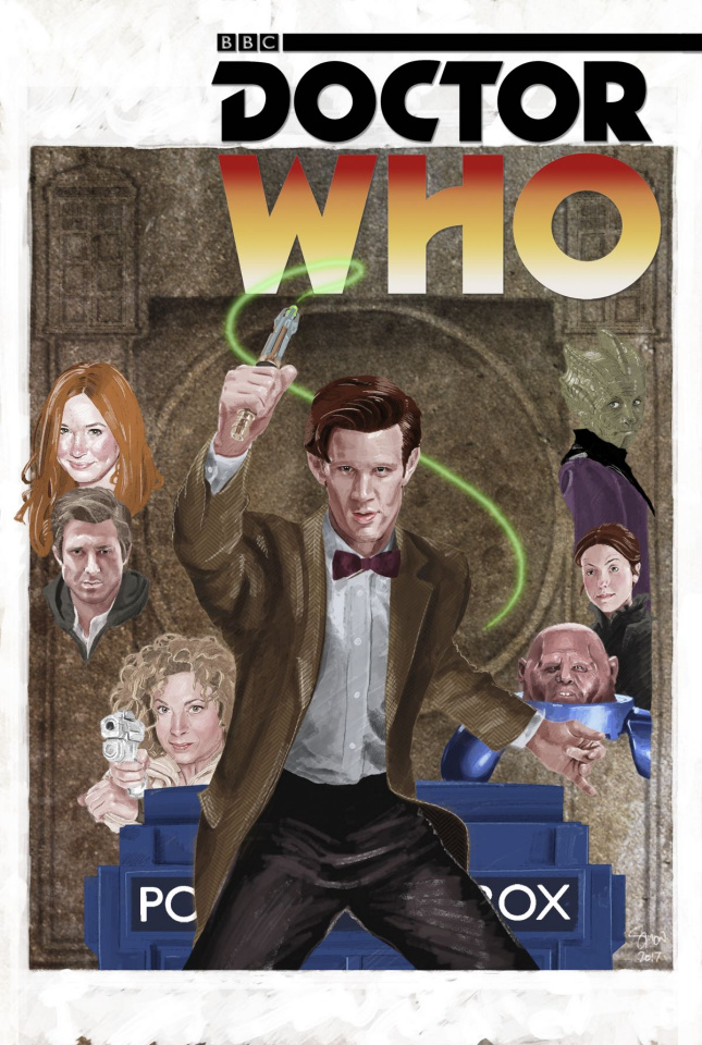 Doctor Who: New Adventures with the Eleventh Doctor, Year Three #8 (Myers Cover)
