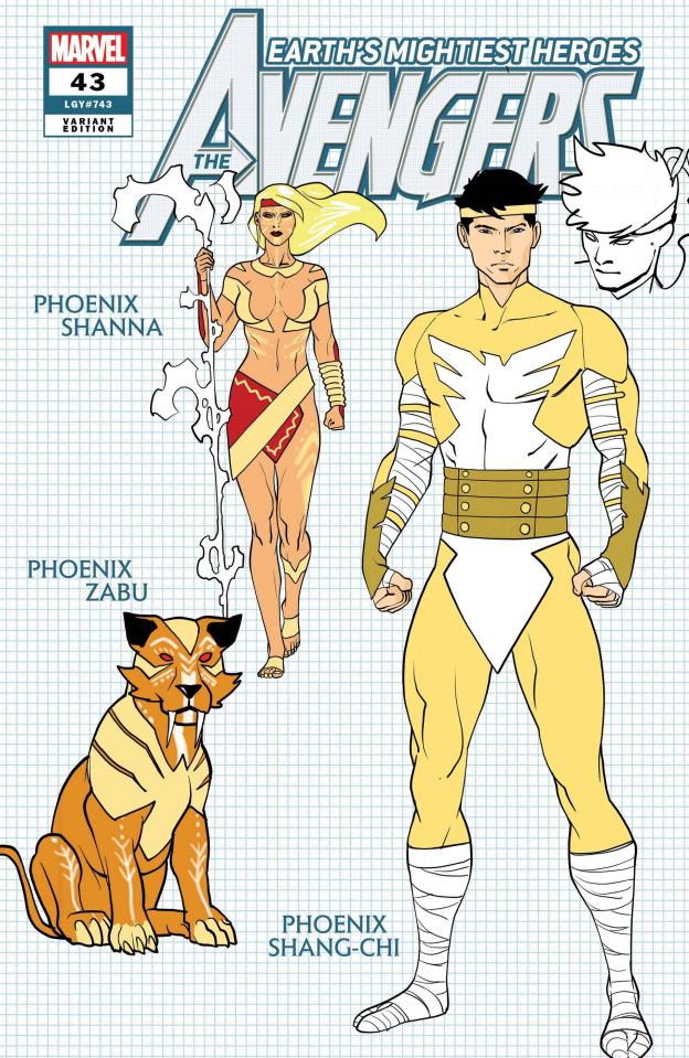 Avengers #43 (Garron Design Cover)