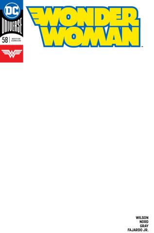 Wonder Woman #58 (Blank Cover)