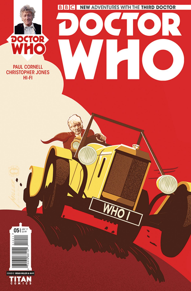 Doctor Who: New Adventures with the Third Doctor #5 (Miller Cover)