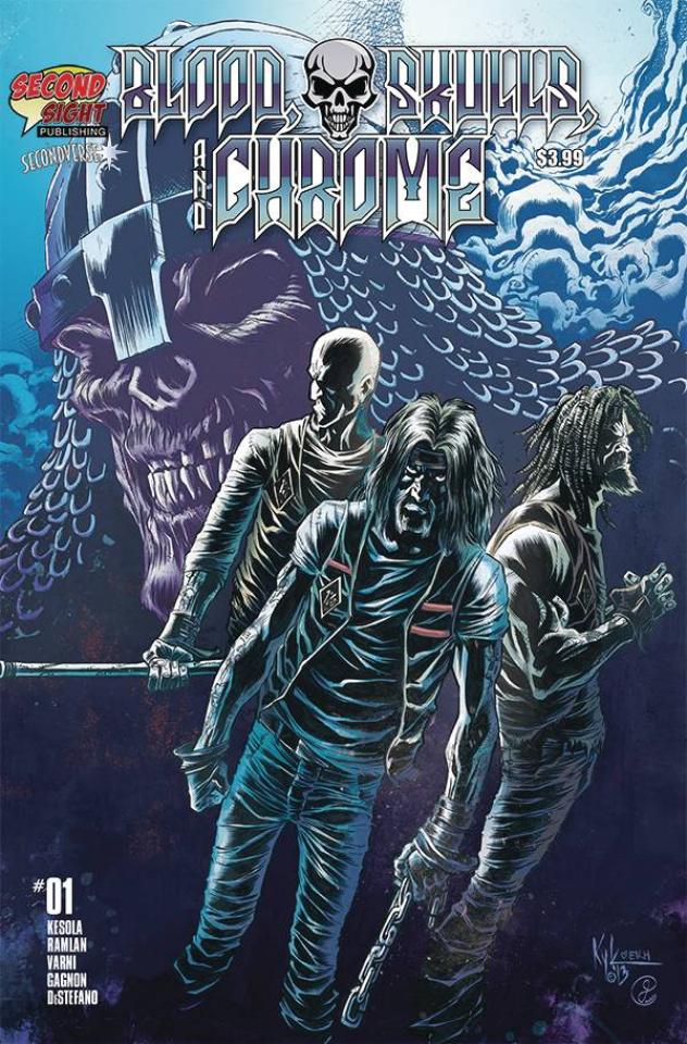 Blood, Skulls, and Chrome #1 (5 Copy Kyle Hotz Cover)