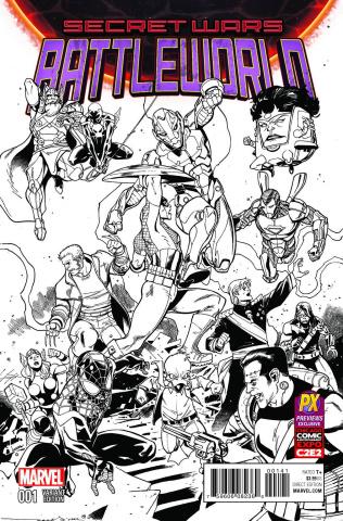 Secret Wars: Battleworld #1 (Medina C2E2 PX Inked Cover)