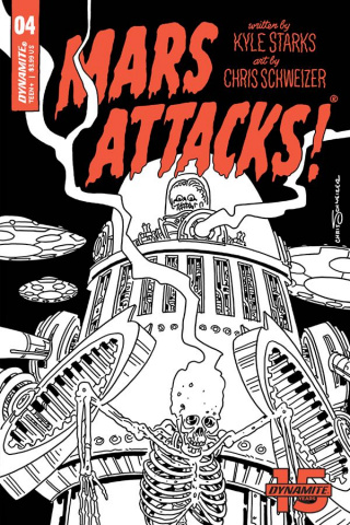 Mars Attacks #4 (30 Copy Schweizer B&W Cover)
