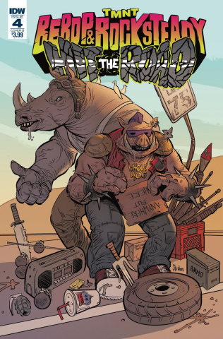 Teenage Mutant Ninja Turtles: Bebop and Rocksteady Hit the Road #4 (Strahm Cover)