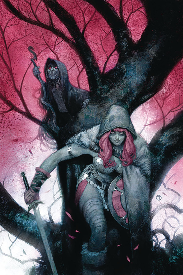 Vampirella / Red Sonja #4 (Tedesco Virgin Cover)
