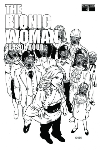 The Bionic Woman, Season Four #3 (15 Copy Chen B&W Cover)
