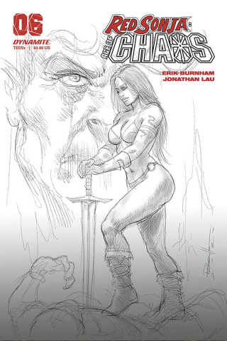Red Sonja: Age of Chaos #6 (40 Copy Parrillo B&W Cover)