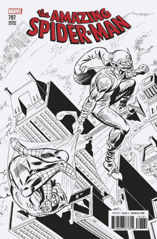 The Amazing Spider-Man #797 (Remastered B&W Cover)