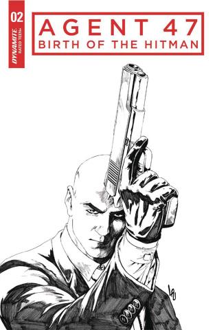 Agent 47: Birth of the Hitman #2 (10 Copy B&W Cover)