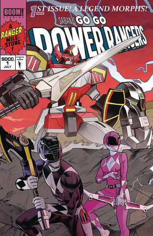 Go, Go, Power Rangers! #1 (Mora SDCC Connecting Cover)