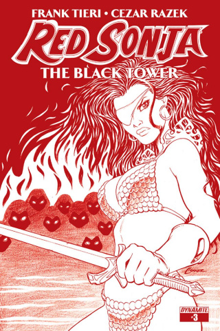 Red Sonja: The Black Tower #3 (Conner Blood Red Cover)