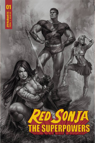 Red Sonja: The Superpowers #1 (15 Copy Parrillo B&W Cover)