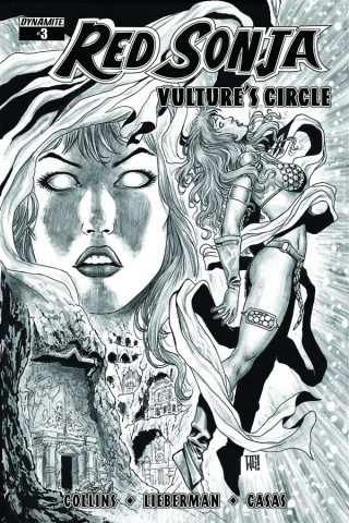 Red Sonja: Vulture's Circle #3 (20 Copy Geovani B&W Cover)