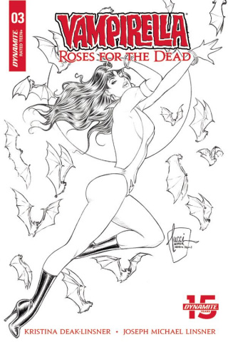 Vampirella: Roses for the Dead #3 (10 Copy Tucci B&W Cover)