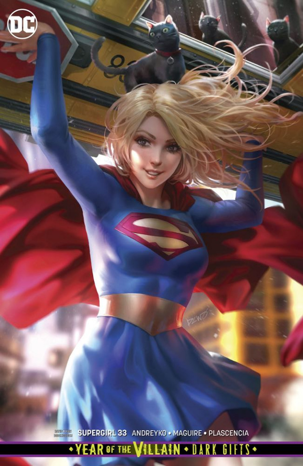 Supergirl #33 (Card Stock Dark Gifts Cover)