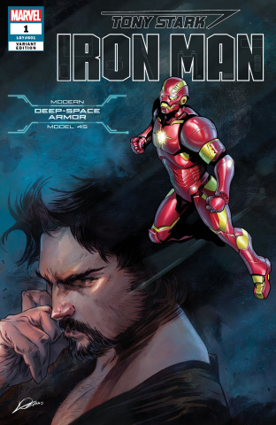 Tony Stark: Iron Man #1 (Guardians Space Armor Cover)