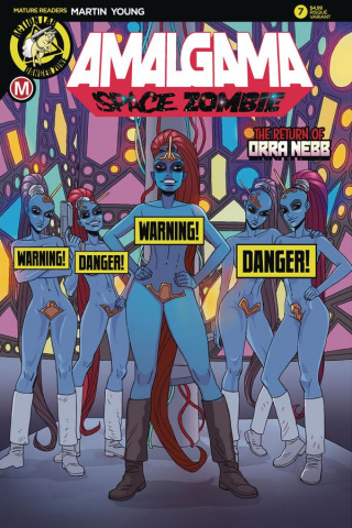 Amalgama: Space Zombie #7 (Young Risque Cover)