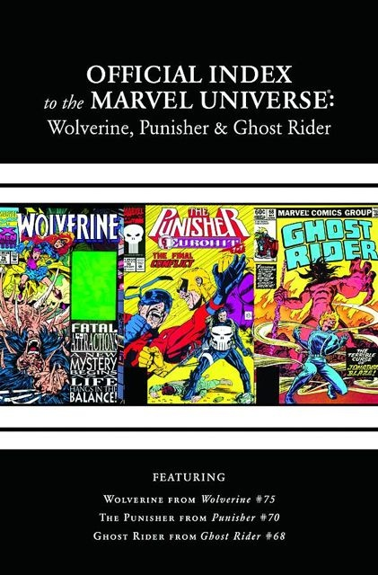 The Official Index to the Marvel Universe #3: Wolverine, Punisher & Ghost Rider