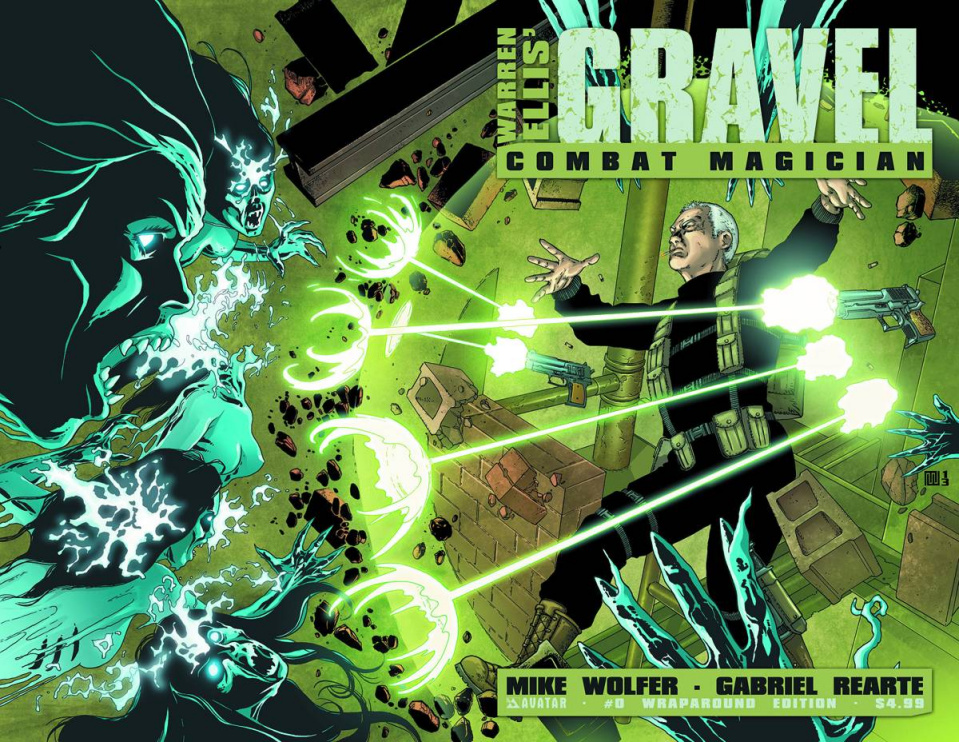 Gravel: Combat Magician #0 (Wrap Cover)