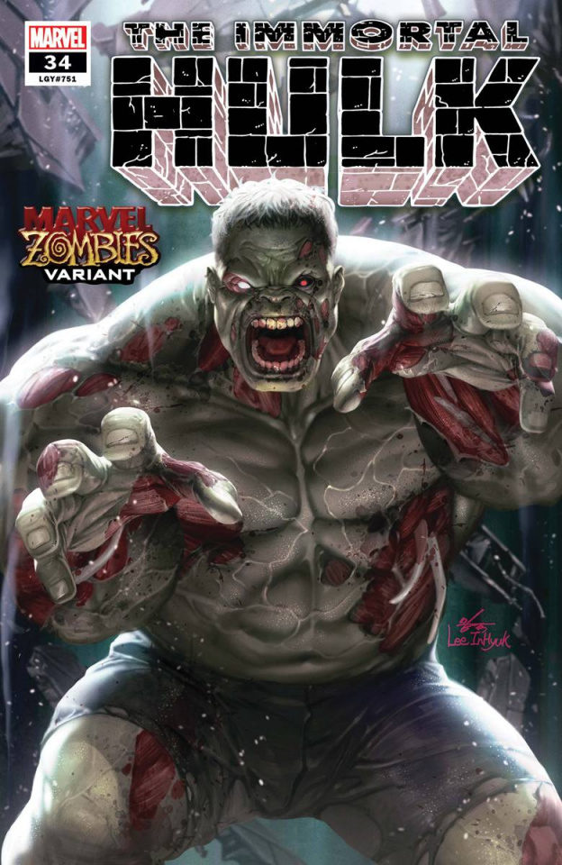 The Immortal Hulk #34 (Inhyuk Lee Marvel Zombies Cover)