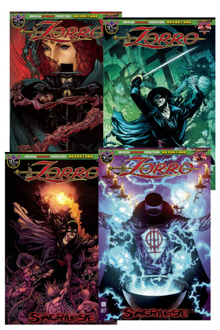 Zorro: Sacrilege #1-4 (Readers Set)