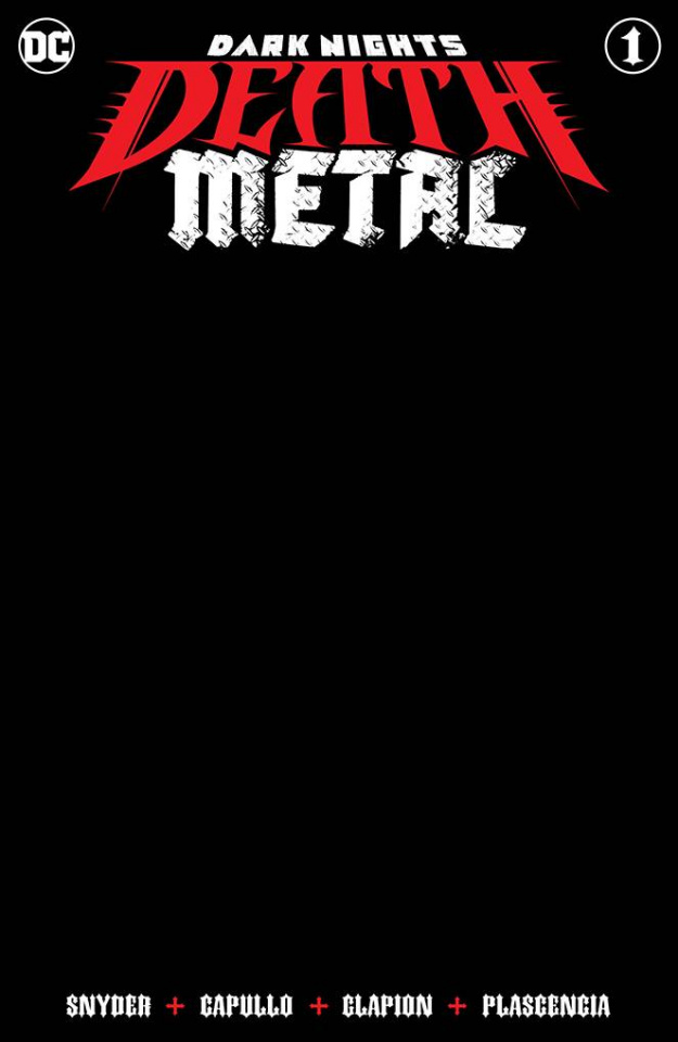 Dark Nights: Death Metal #1 (Black Blank Cover)