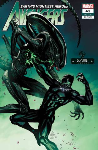 Avengers #41 (Yu Marvel vs. Alien Cover)