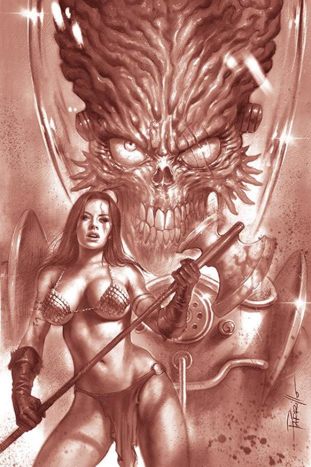 Mars Attacks / Red Sonja #1 (25 Copy Parrillo Tint Virgin Cover)