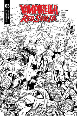 Vampirella / Red Sonja #3 (40 Copy Romero & Bellaire B&W Cover)