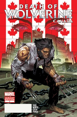 Death of Wolverine #2 (McNiven Canada Cover)