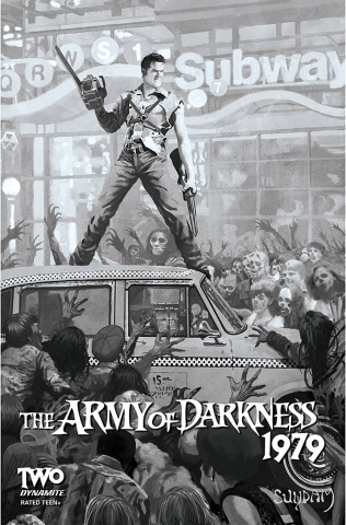 The Army of Darkness: 1979 #2 (10 Copy Suydam B&W Cover)