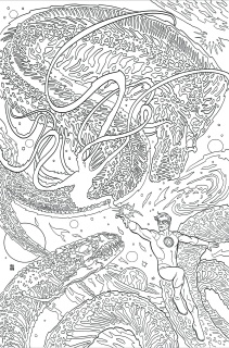 Green Lantern #48 (Adult Coloring Book Cover)
