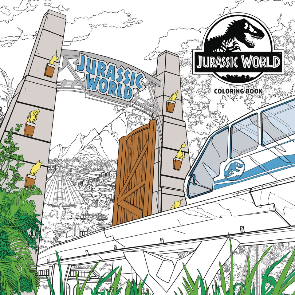 Jurassic World Adult Coloring Book