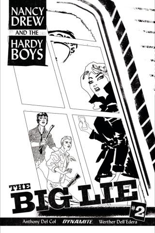 Nancy Drew and The Hardy Boys #2 (10 Copy Bullock B&W Cover)