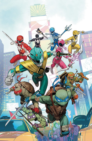 Power Rangers / Teenage Mutant Ninja Turtles #1 (Mora Cover)
