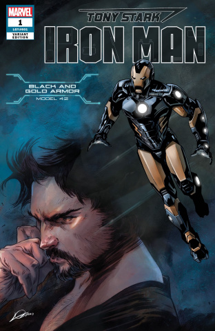 Tony Stark: Iron Man #1 (Black and Gold Armor Cover)