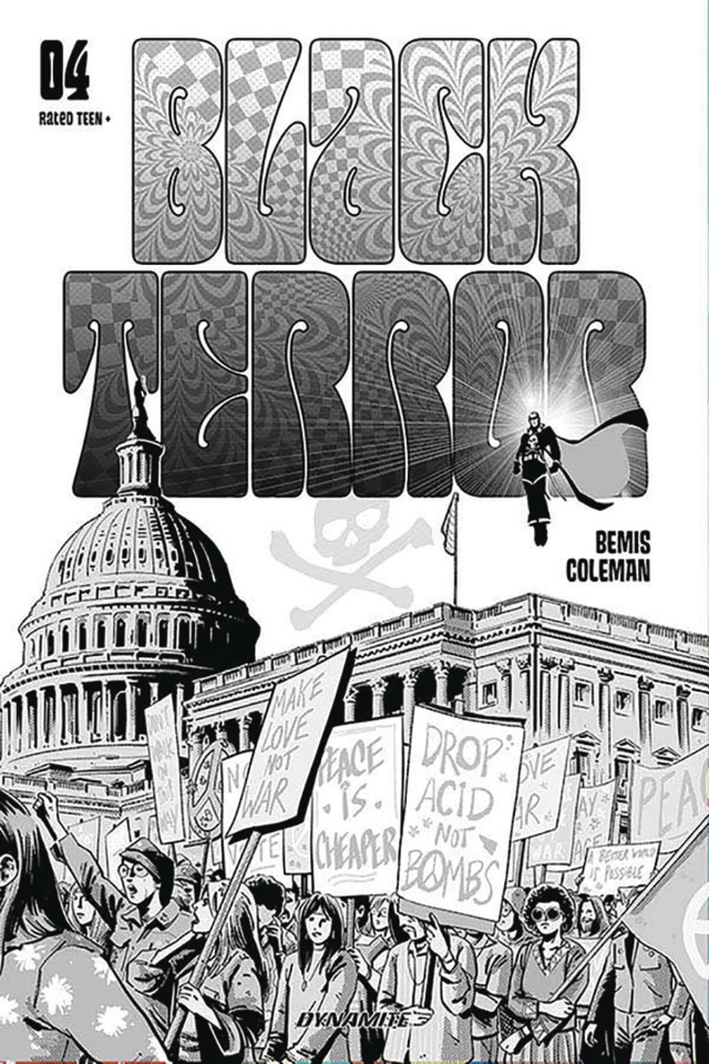 Black Terror #4 (20 Copy Fornes B&W Cover)