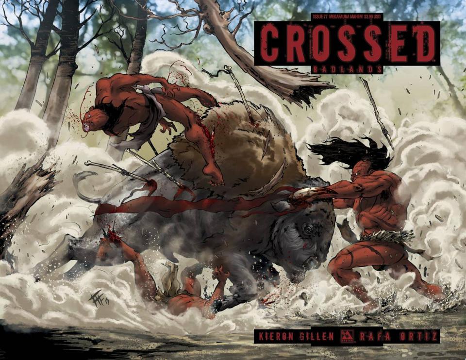Crossed: Badlands #77 (Megafauna Mayhem Cover)
