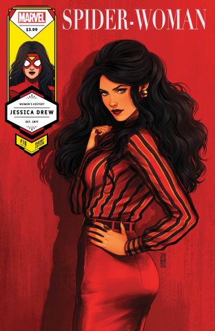 Spider-Woman #10 (Bartel Spider-Woman Womens History Month Cover)