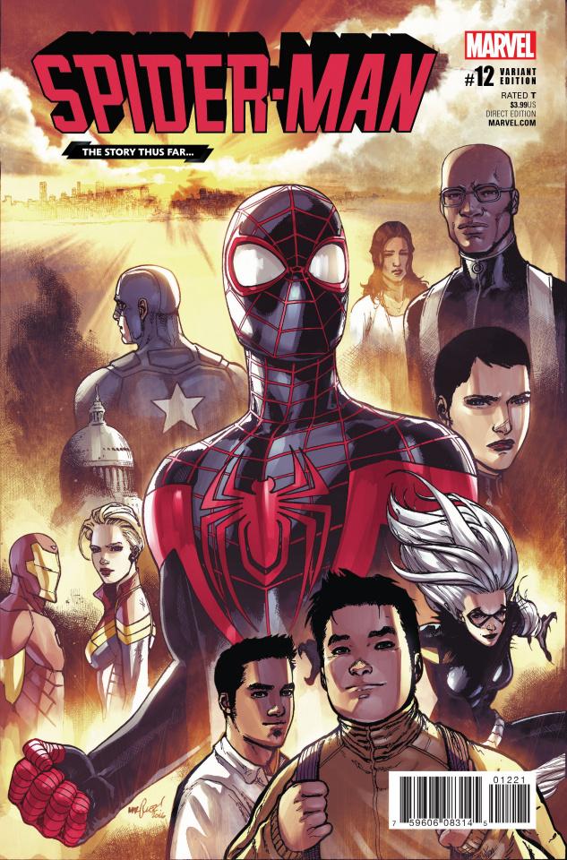 Spider-Man #12 (Marquez Story Thus Far Cover)