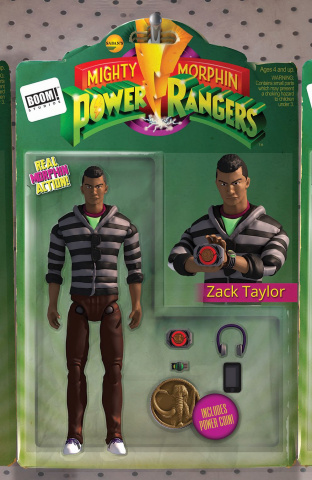 Mighty Morphin' Power Rangers #18 (Unlock Action Figure Cover)