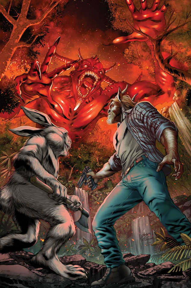Man Goat & The Bunny Man #3 (Vitorino Cover)