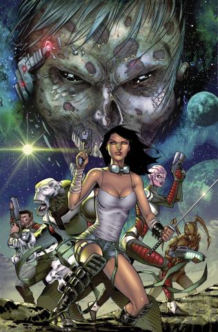 Aliens vs. Zombies #2 (Metcalf Cover)